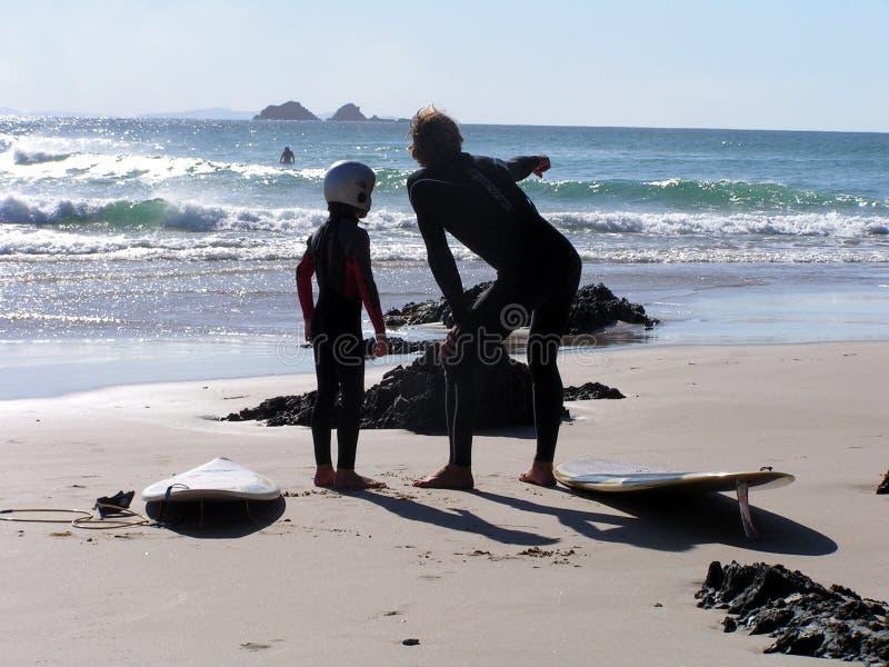 instruktor surf zdjęcia stock