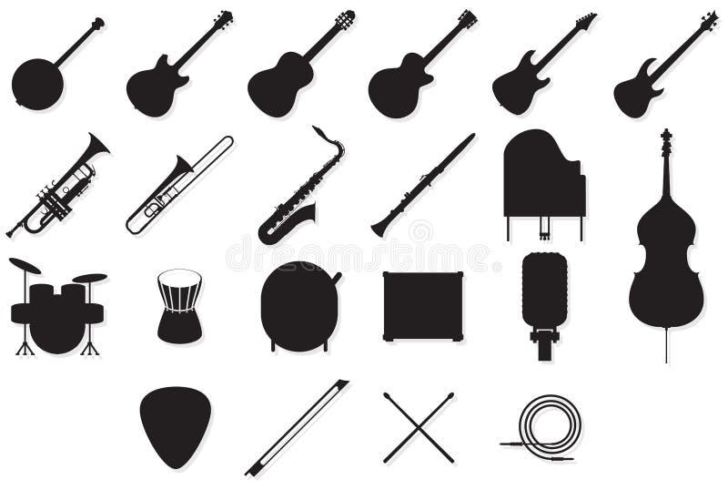 Instrumentów kontury ustawiający ilustracji