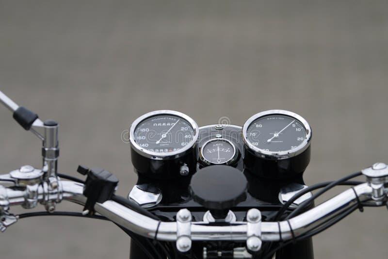 instrumentów motocyklu rocznik obraz royalty free