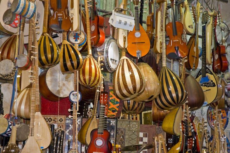 instrumentów muzyki sklep zdjęcie royalty free
