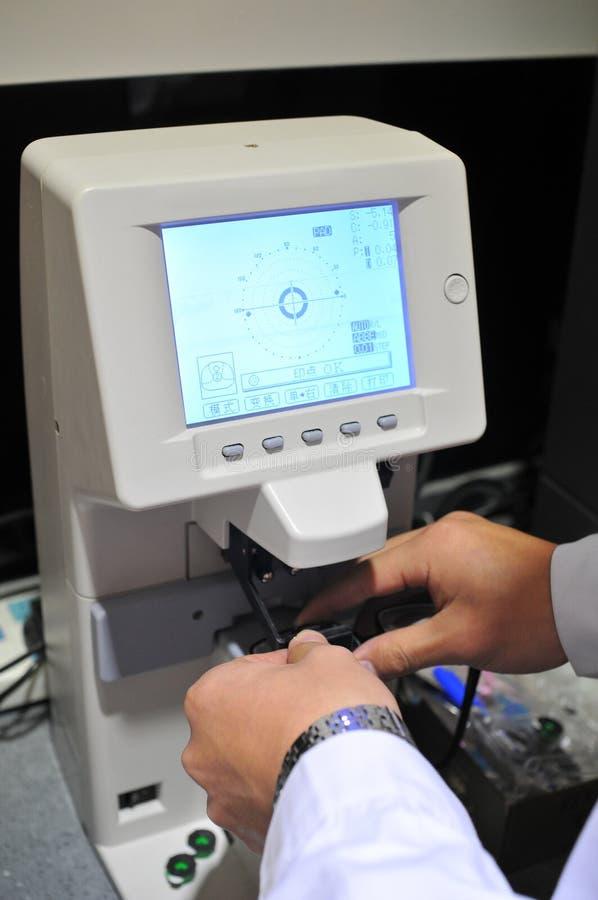 Optométrie matérielle image stock