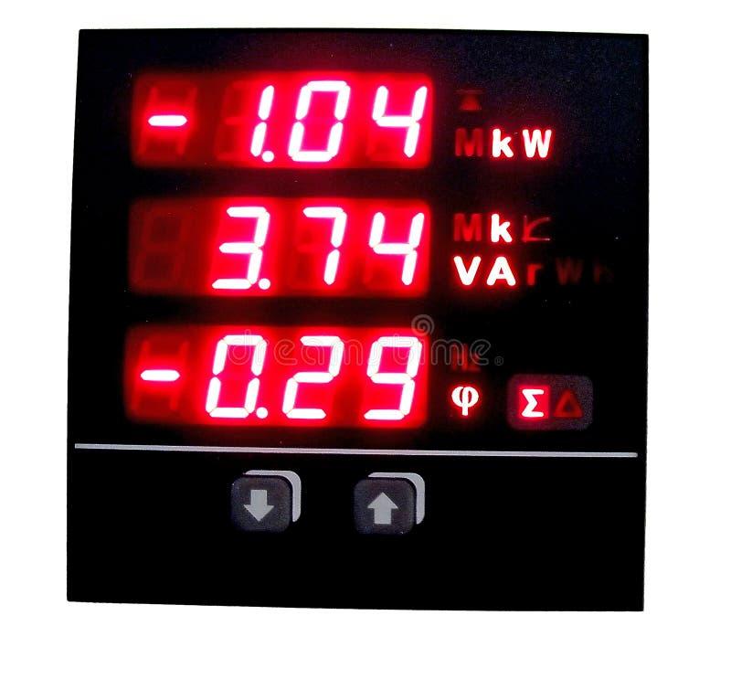 Instrument de mesure avec l'affichage rouge d'affichage à cristaux liquides photographie stock libre de droits