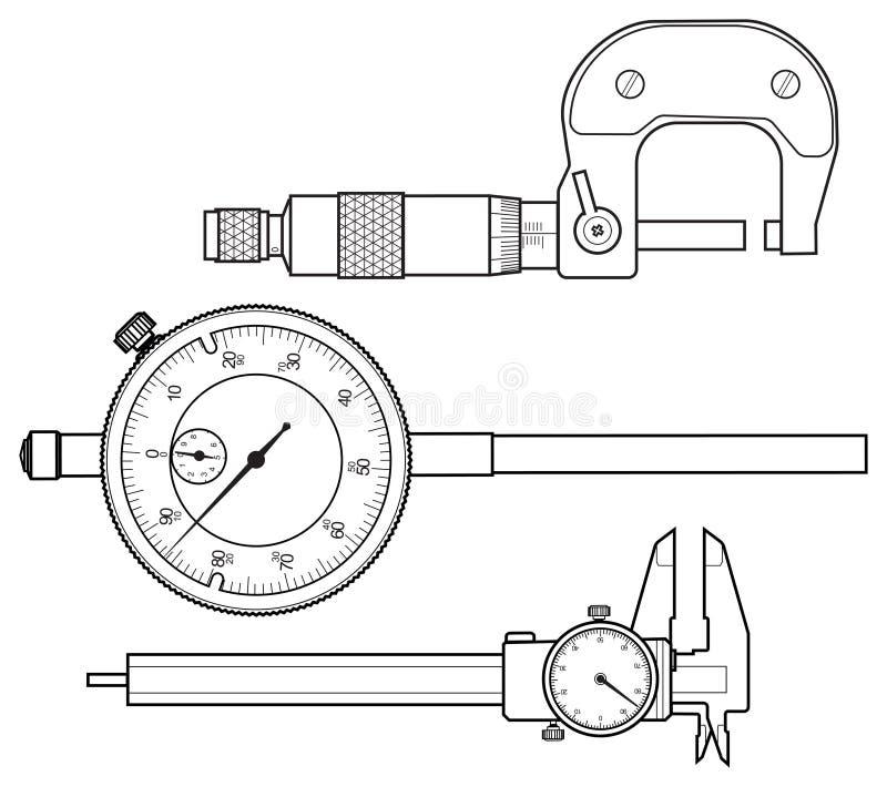 Instrument de mesure professionnel image stock