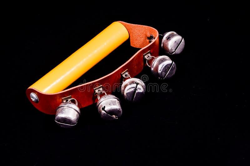 Instrument de musique de cloches de main pour la sonnerie photographie stock libre de droits