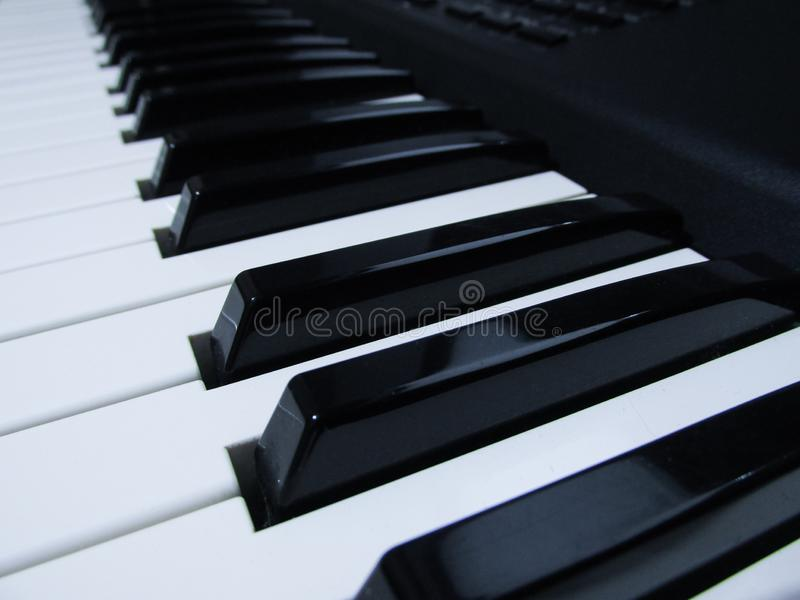 Instrument de musique de piano et de clavier images libres de droits