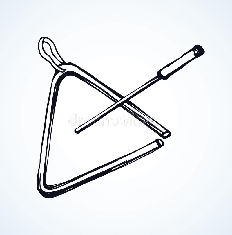 Instrument de musique de triangle Retrait de vecteur illustration libre de droits