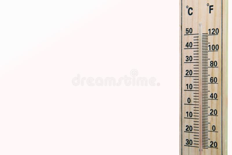 Instrument de thermostat de Termometer pour mesurer la température de l'air espace vide pour l'inscription Thermomètre sur le fon photo stock