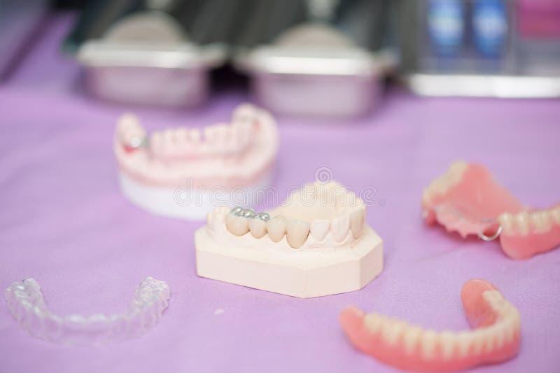 Instrument dentaire témoin dans la clinique dentaire photographie stock libre de droits