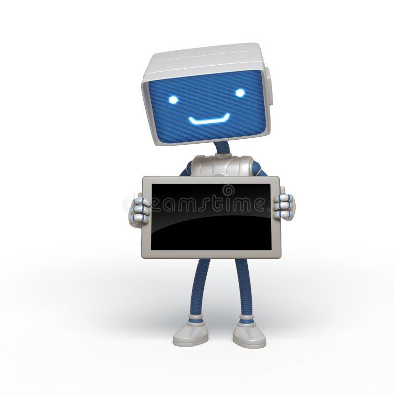 Instrument drôle de fixation de robot illustration de vecteur