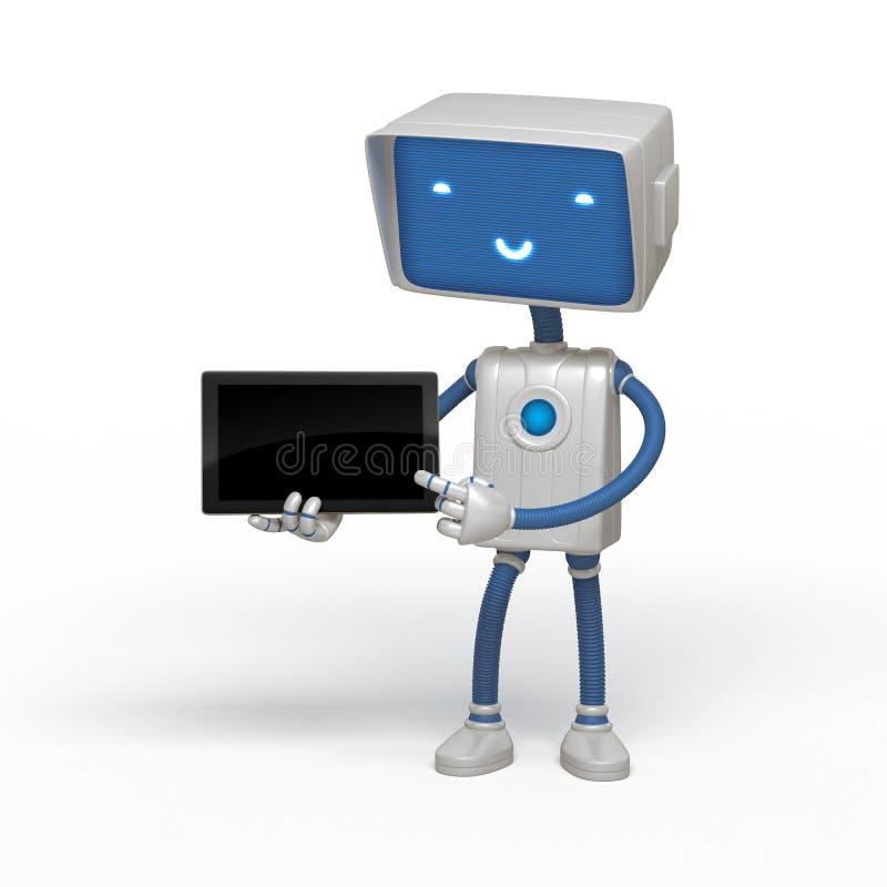 Instrument drôle de fixation de robot illustration libre de droits