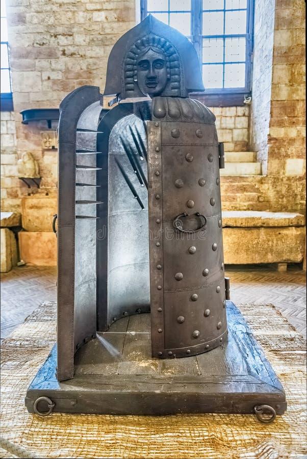 Instrument médiéval de torture dans un musée dans Gubbio, Italie images libres de droits