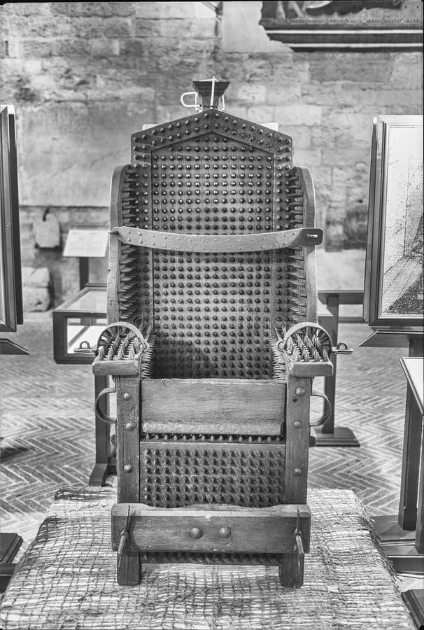 Instrument médiéval de torture dans un musée dans Gubbio, Italie image libre de droits