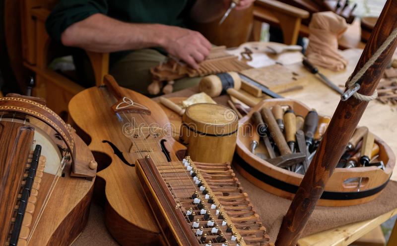 Instrument maker royalty free stock photography
