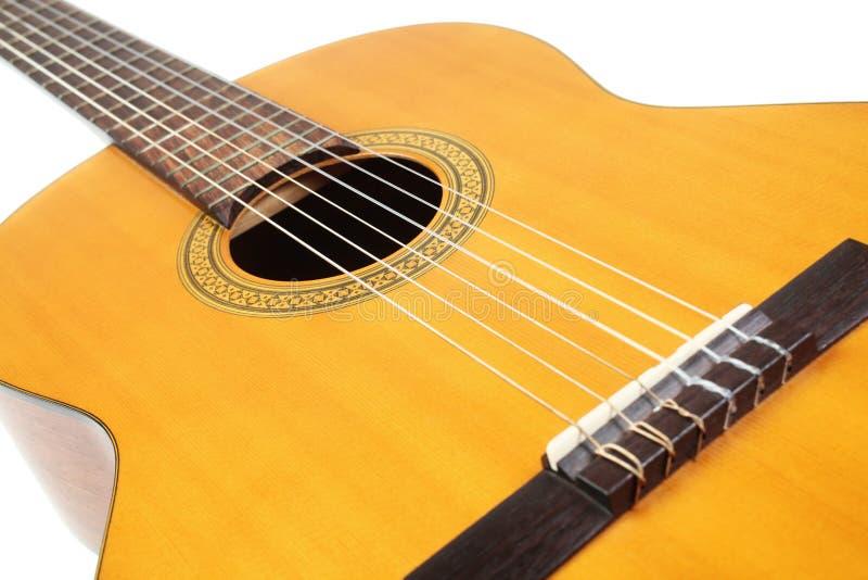 Instrument musical acoustique de guitare photos libres de droits