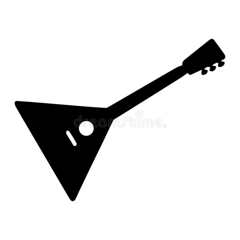 Instrument musical Illustration de vecteur de balalaïka de silhouette illustration de vecteur