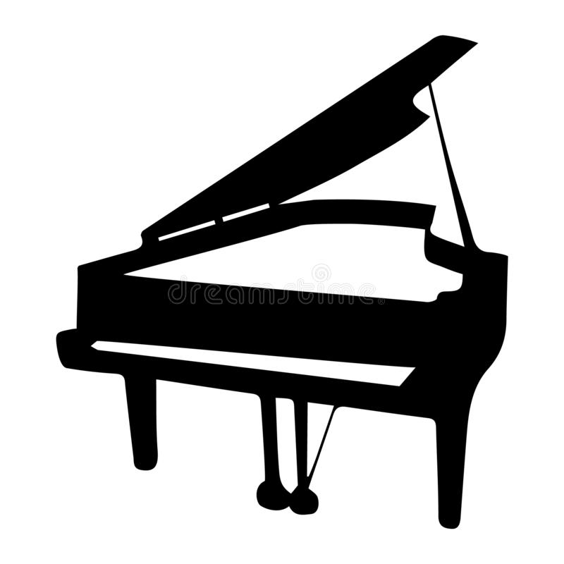 Instrument musical Illustration de vecteur de piano de silhouette illustration de vecteur