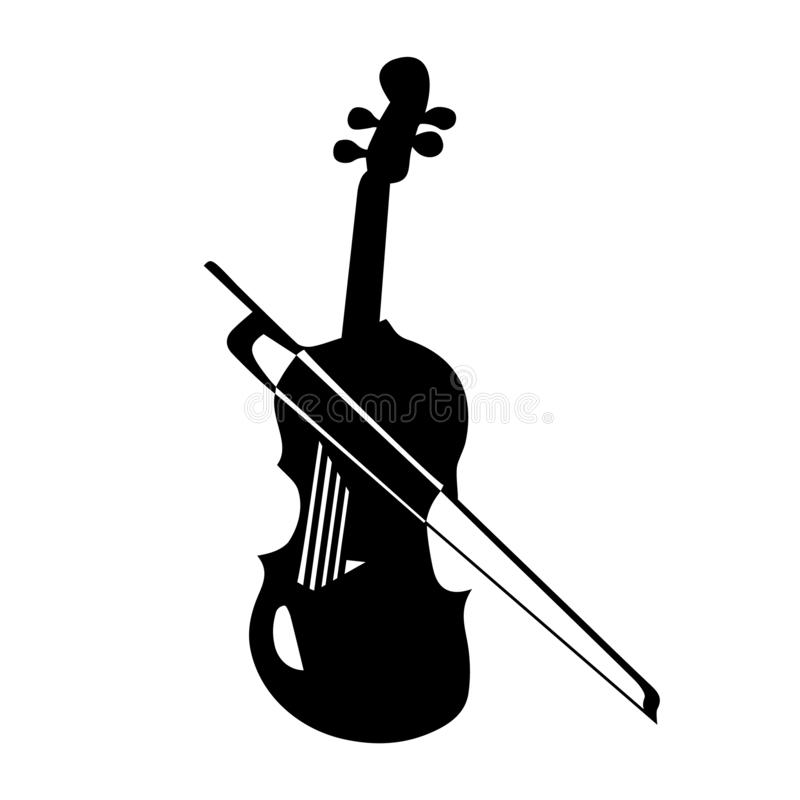 Instrument musical Illustration de vecteur de violon de silhouette illustration libre de droits