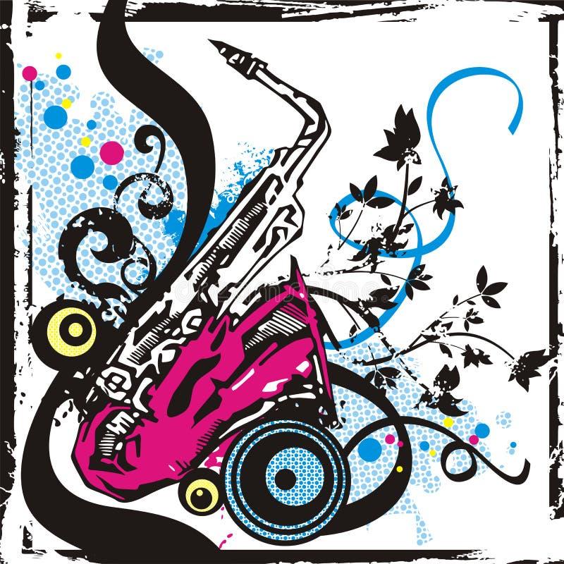 instrument musikserien royaltyfri illustrationer