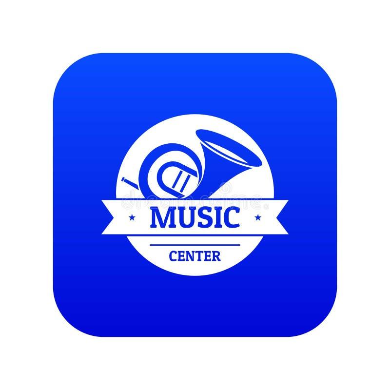 Instrument muzyczny ikony błękita tubowy wektor ilustracji
