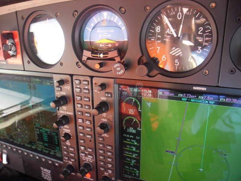 Instrument panel of aircraft Diamond 42 NG royalty free stock image