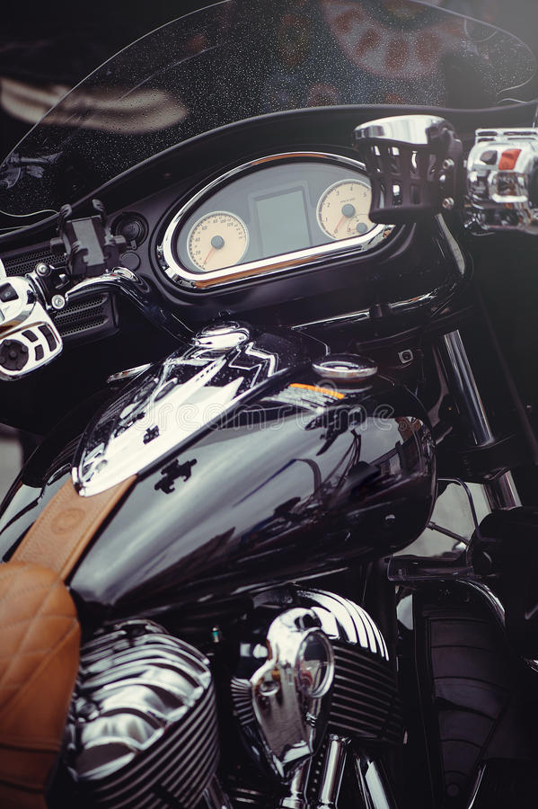 Instrument panel is classic motorcycle stock images