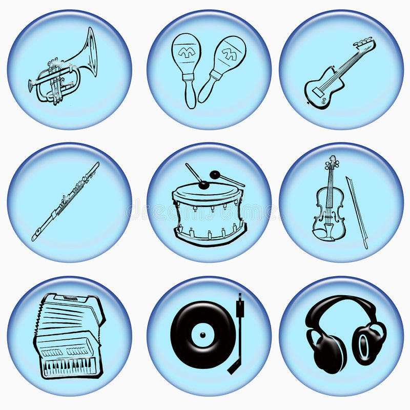 Instrument Web Buttons Royalty Free Stock Photos