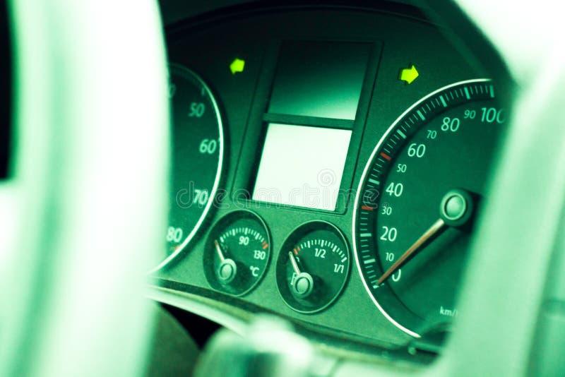 Instrumentbräda i bilen royaltyfri bild