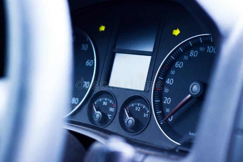 Instrumentbräda i bilen royaltyfri fotografi