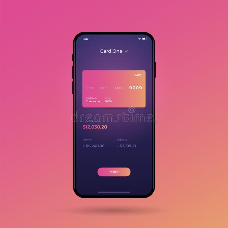 Instrumentbräda UI och UX sats Design för kontrollmitt Shoppa direktanslutet genom att använda smartphonen vektor illustrationer
