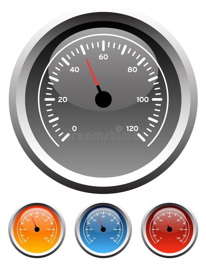 instrumentbrädan mått speedometeren vektor illustrationer