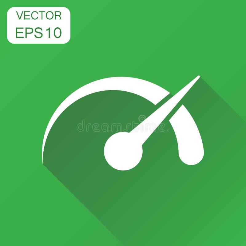 Instrumentbrädasymbol Pictogram för hastighet för affärsidénivåmeter Ve stock illustrationer