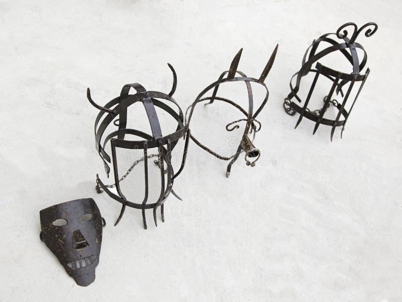 Instrumente der Folterung, Untersuchung stockfotos