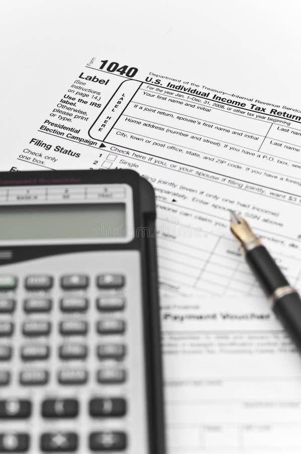 Instrumente für Buchhaltung lizenzfreies stockbild