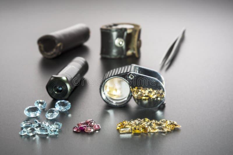 Instrumentengemologist stock foto's