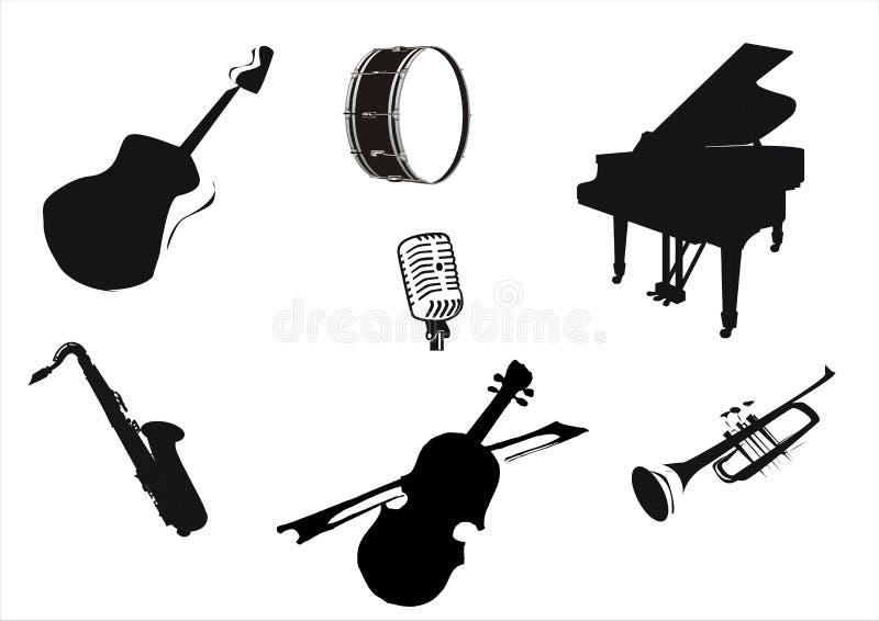 instrumentmusik vektor illustrationer
