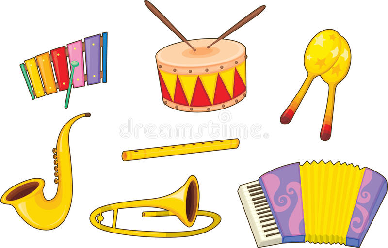 instrumentmusikal stock illustrationer