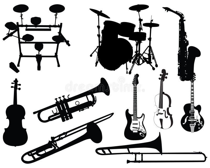 instrumentmusikalset royaltyfri illustrationer