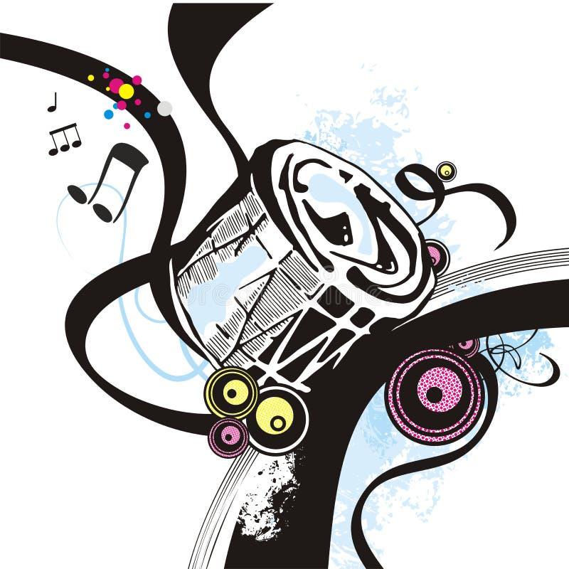 instrumentmusikserie stock illustrationer