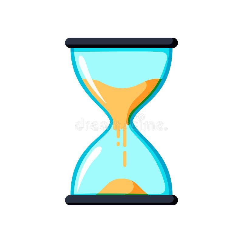 Instrumento antigo da ampulheta Ampulheta como a hora que passa o conceito para o fim do prazo, a urgência e o corredor do negóci ilustração stock