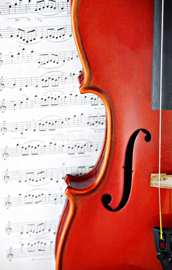 Instrumento clássico da corda do violino fotografia de stock