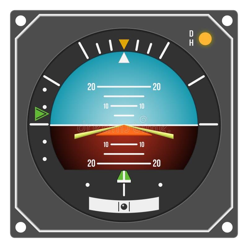 Instrumento de aviões - diretor de vôo indicador ilustração do vetor
