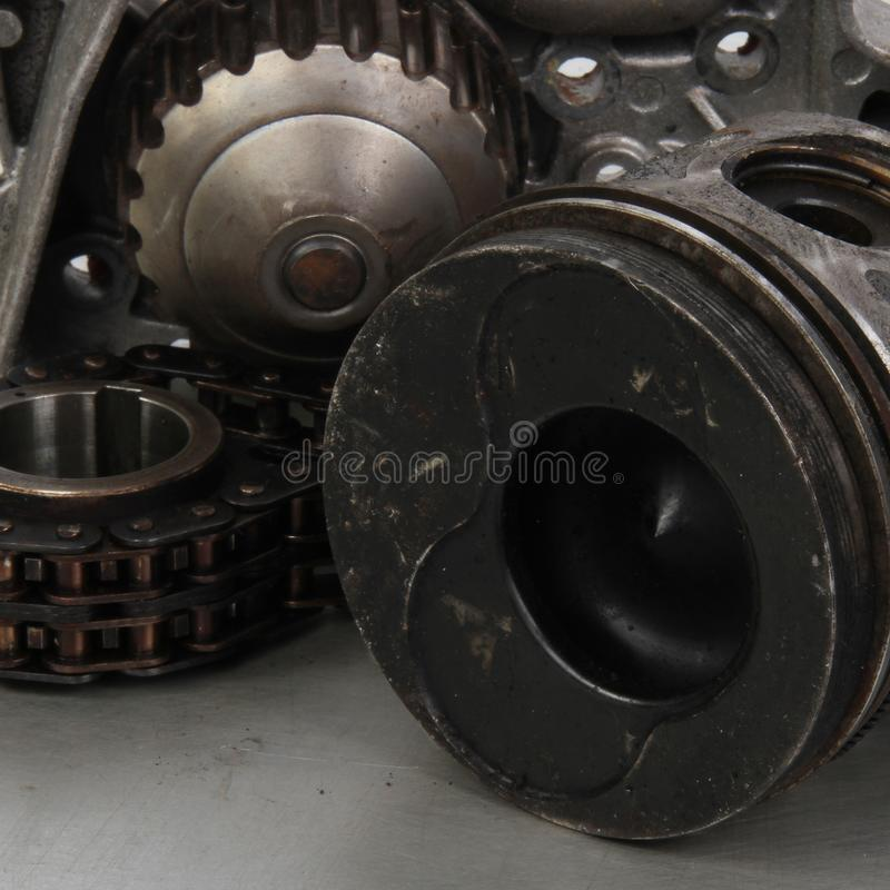 Instrumento de desenho perto do rolamento de esferas foto de stock