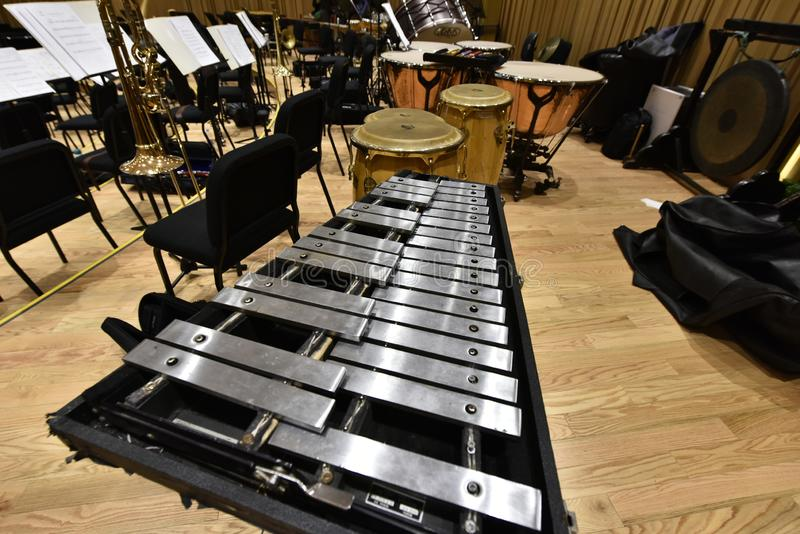 Instrumento de la sinfonía del carillón fotografía de archivo
