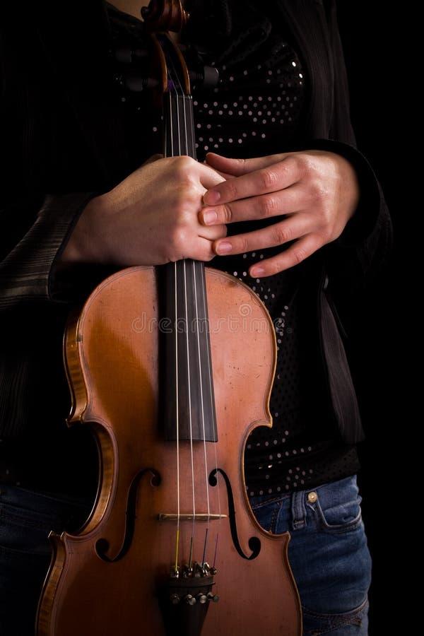 Instrumento de música clásico - violín fotos de archivo