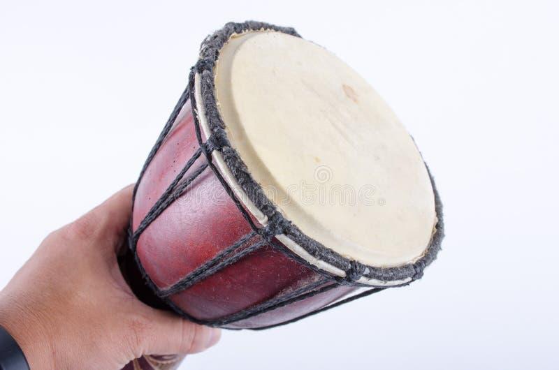 Instrumento de música del ritmo del tambor de Djembe fotografía de archivo libre de regalías