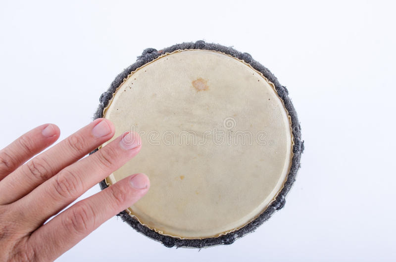 Instrumento de música del ritmo del tambor de Djembe imagenes de archivo