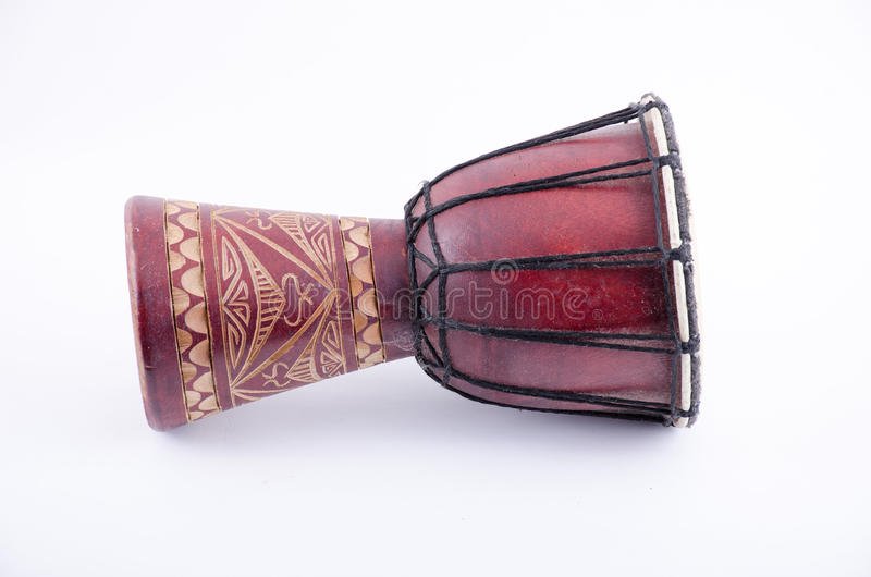 Instrumento de música del ritmo del tambor de Djembe imágenes de archivo libres de regalías