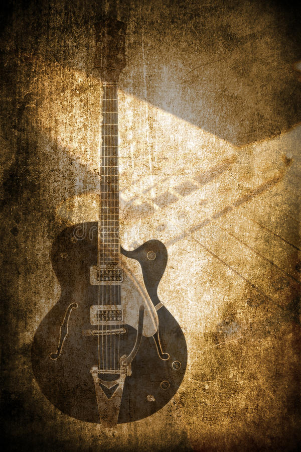Instrumento de música do Grunge ilustração do vetor