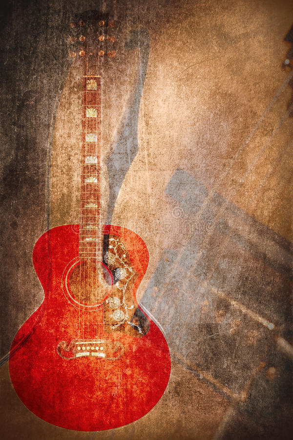 Instrumento de música do Grunge ilustração royalty free