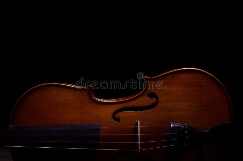 Instrumento de música do violino da orquestra fotos de stock royalty free